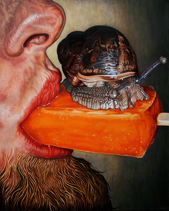 Savour The Flavour (With Snail & I) - Oil on Canvas 2009
