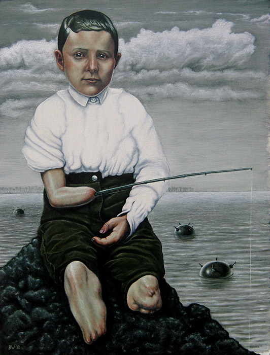 The Angler - Oil on Board 2012
